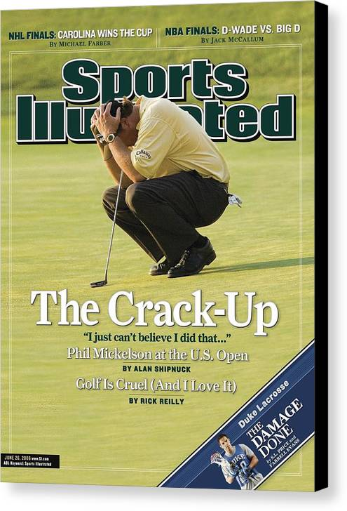 Magazine Cover Canvas Print featuring the photograph Phil Mickelson, 2006 Us Open Sports Illustrated Cover by Sports Illustrated