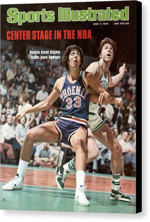 Magazine Cover Canvas Print featuring the photograph Phoenix Suns Alvan Adams, 1976 Nba Finals Sports Illustrated Cover by Sports Illustrated