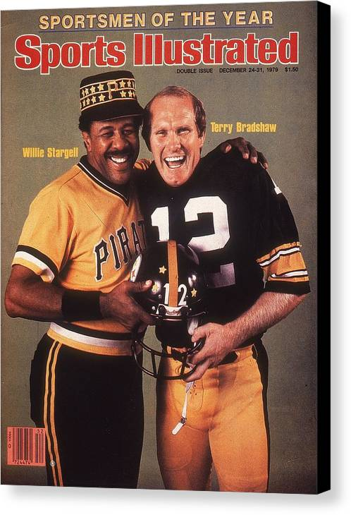 Professional Sport Canvas Print featuring the photograph Pittsburgh Pirates Willie Stargell And Pittsburgh Steelers Sports Illustrated Cover by Sports Illustrated