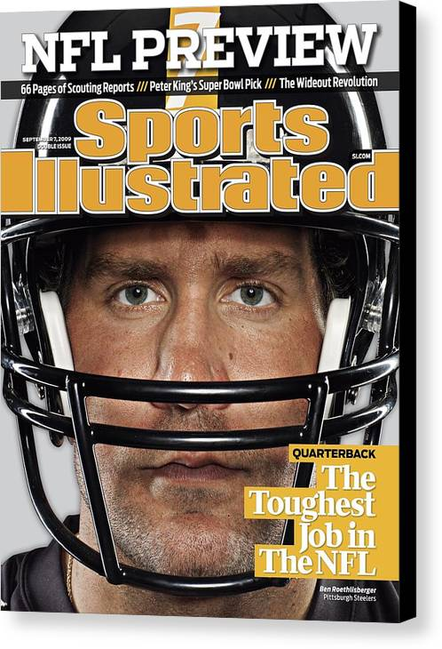 People Canvas Print featuring the photograph Pittsburgh Steelers Qb Ben Roethlisberger, 2009 Nfl Sports Illustrated Cover by Sports Illustrated