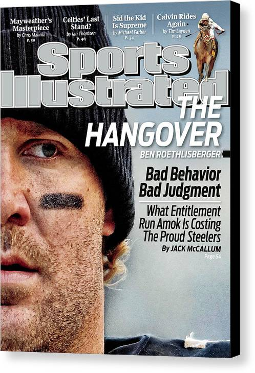 Ben Roethlisberger Canvas Print featuring the photograph Pittsburgh Steelers Qb Ben Roethlisberger... Sports Illustrated Cover by Sports Illustrated