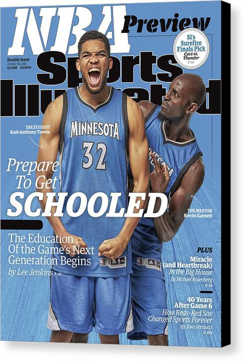 Magazine Cover Canvas Print featuring the photograph Prepare To Get Schooled, The Education Of The Games Next Sports Illustrated Cover by Sports Illustrated