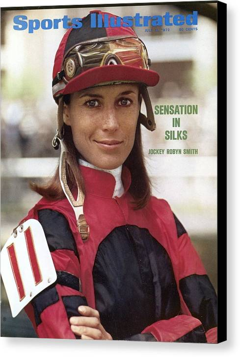 Horse Canvas Print featuring the photograph Robyn Smith, Horse Racing Jockey Sports Illustrated Cover by Sports Illustrated