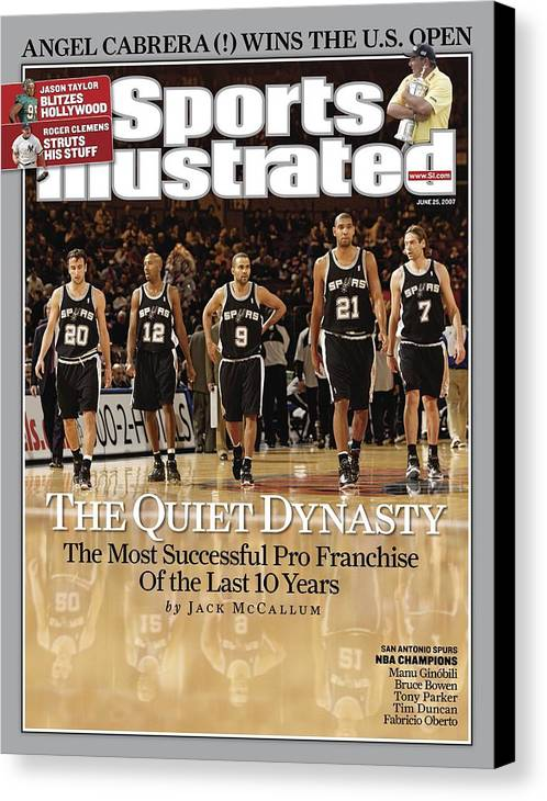 Magazine Cover Canvas Print featuring the photograph San Antonio Spurs Sports Illustrated Cover by Sports Illustrated