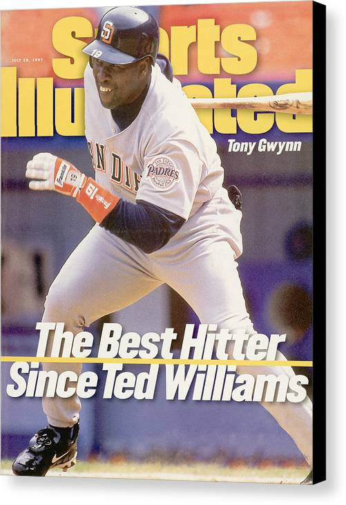 Magazine Cover Canvas Print featuring the photograph San Diego Padres Tony Gwynn... Sports Illustrated Cover by Sports Illustrated