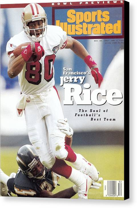 California Canvas Print featuring the photograph San Francisco 49ers Jerry Rice... Sports Illustrated Cover by Sports Illustrated