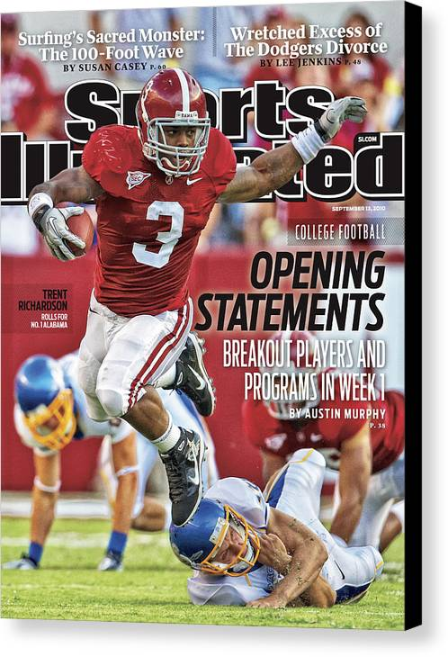 Sports Illustrated Canvas Print featuring the photograph San Jose State V Alabama Sports Illustrated Cover by Sports Illustrated