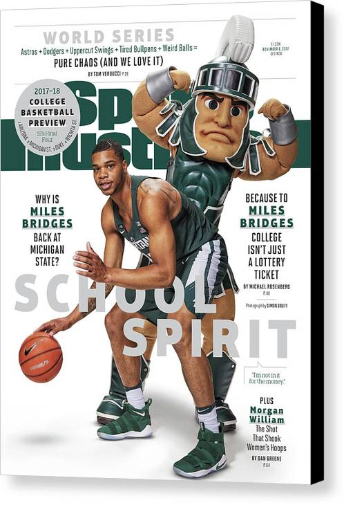 Michigan State University Canvas Print featuring the photograph School Spirit 2017-18 College Basketball Preview Issue Sports Illustrated Cover by Sports Illustrated