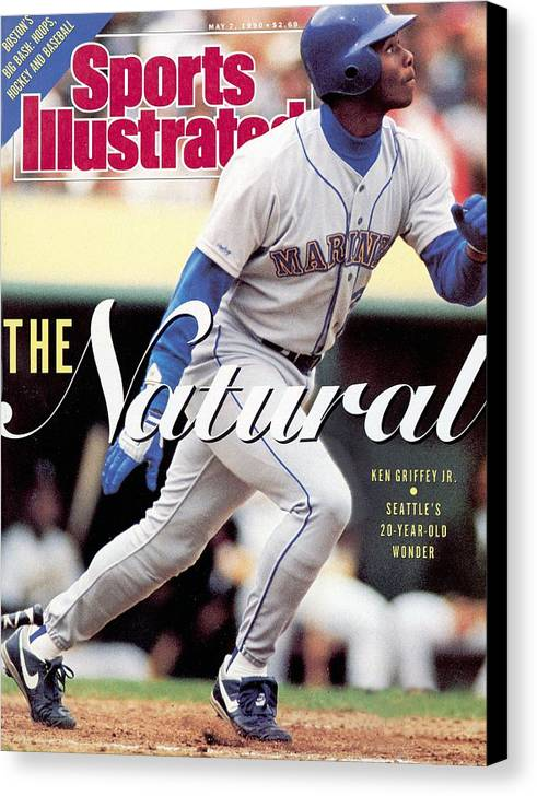 Magazine Cover Canvas Print featuring the photograph Seattle Mariners Ken Griffey Jr... Sports Illustrated Cover by Sports Illustrated