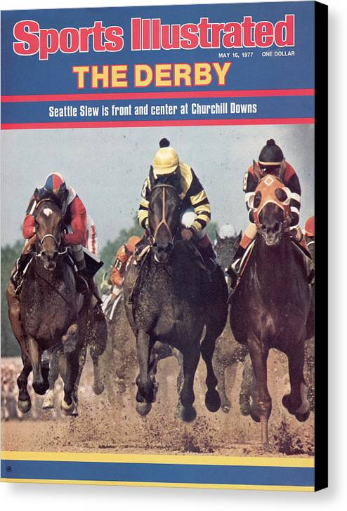 Horse Canvas Print featuring the photograph Seattle Slew, 1977 Kentucky Derby Sports Illustrated Cover by Sports Illustrated