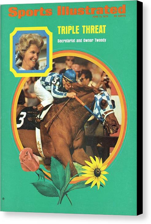 Horse Canvas Print featuring the photograph Secretariat, 1973 Preakness Stakes Sports Illustrated Cover by Sports Illustrated