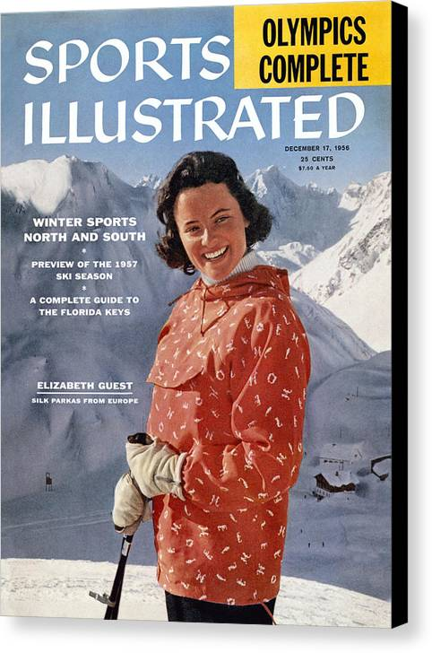 Magazine Cover Canvas Print featuring the photograph Ski Clothes In Austria Sports Illustrated Cover by Sports Illustrated