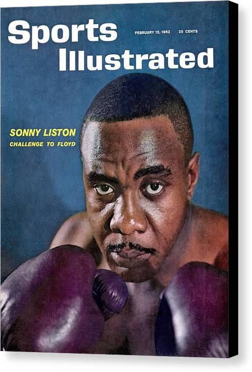 Magazine Cover Canvas Print featuring the photograph Sonny Liston, Heavyweight Boxing Sports Illustrated Cover by Sports Illustrated