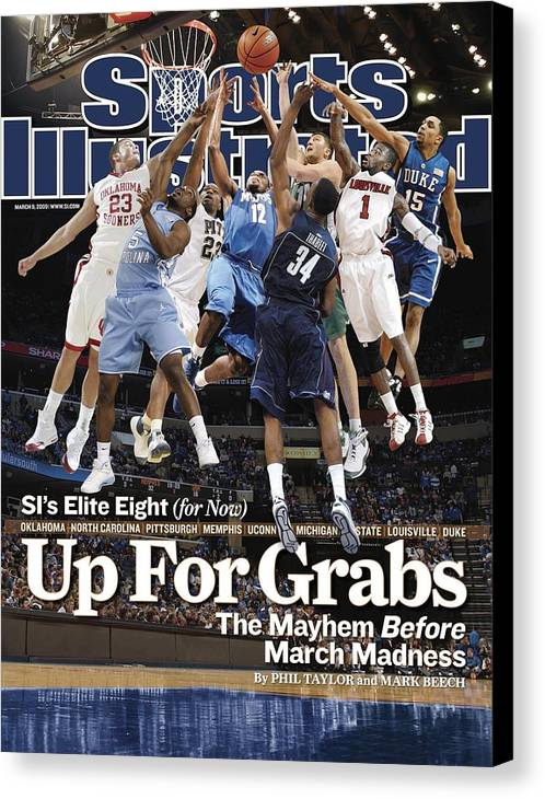 Sports Illustrated Canvas Print featuring the photograph Sports Illustrateds Elite Eight Sports Illustrated Cover by Sports Illustrated