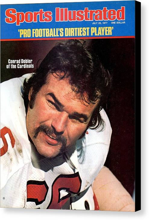 St. Louis Cardinals Canvas Print featuring the photograph St. Louis Cardinals Conrad Dobler Sports Illustrated Cover by Sports Illustrated