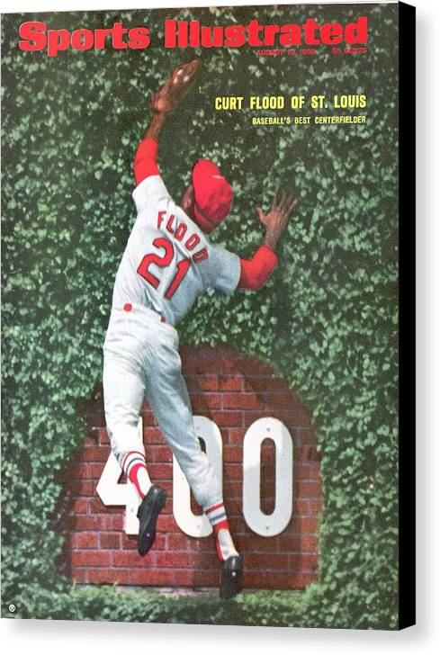 St. Louis Cardinals Canvas Print featuring the photograph St. Louis Cardinals Curt Flood Sports Illustrated Cover by Sports Illustrated