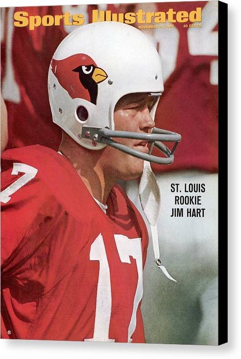 St. Louis Cardinals Canvas Print featuring the photograph St. Louis Cardinals Jim Hart Sports Illustrated Cover by Sports Illustrated