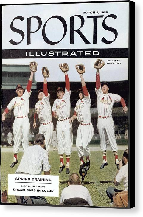St. Louis Cardinals Canvas Print featuring the photograph St. Louis Cardinals Sports Illustrated Cover by Sports Illustrated