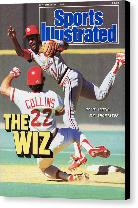 St. Louis Cardinals Canvas Print featuring the photograph St Louis Cardinals Ozzie Smith... Sports Illustrated Cover by Sports Illustrated