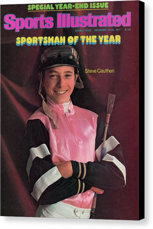Magazine Cover Canvas Print featuring the photograph Steve Cauthen, 1977 Sportsman Of The Year Sports Illustrated Cover by Sports Illustrated