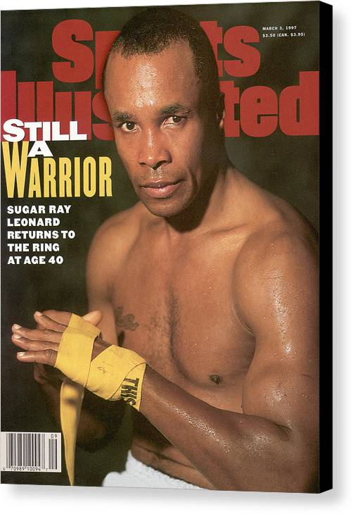 Event Canvas Print featuring the photograph Sugar Ray Leonard, Middleweight Boxing Sports Illustrated Cover by Sports Illustrated