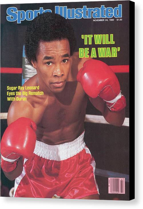 Magazine Cover Canvas Print featuring the photograph Sugar Ray Leonard, Welterweight Boxing Sports Illustrated Cover by Sports Illustrated