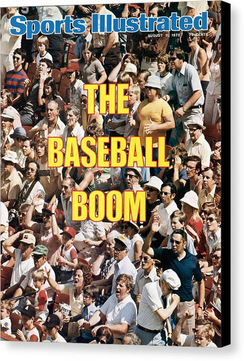 Magazine Cover Canvas Print featuring the photograph The Baseball Boom Sports Illustrated Cover by Sports Illustrated