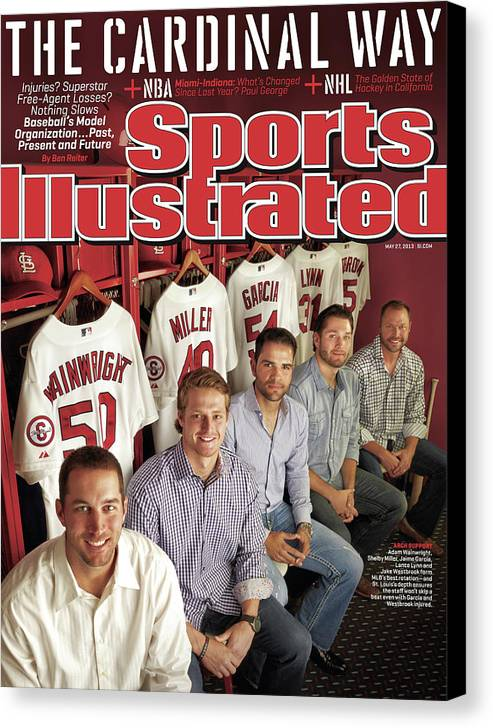 St. Louis Cardinals Canvas Print featuring the photograph The Cardinal Way Baseballs Model Organization...past Sports Illustrated Cover by Sports Illustrated