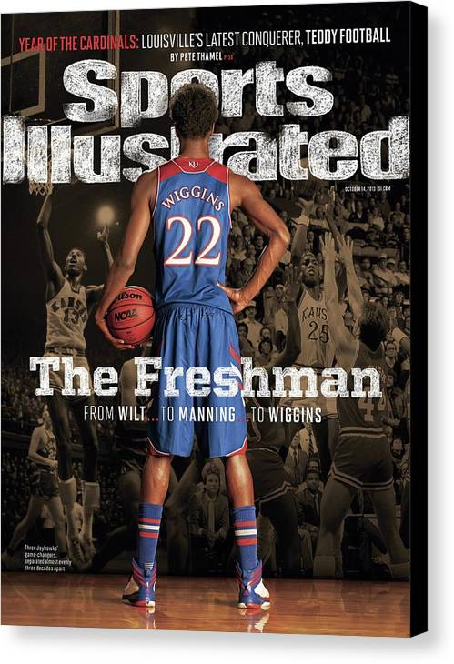 Magazine Cover Canvas Print featuring the photograph The Freshman From Wilt...to Manning...to Wiggins Sports Illustrated Cover by Sports Illustrated