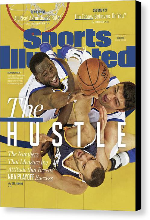 Playoffs Canvas Print featuring the photograph The Hustle The Numbers That Measure The Attitude That Sports Illustrated Cover by Sports Illustrated
