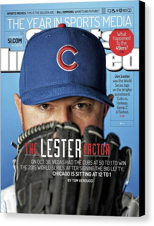 Magazine Cover Canvas Print featuring the photograph The Lester Factor Sports Illustrated Cover by Sports Illustrated
