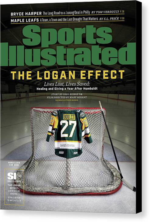 Magazine Cover Canvas Print featuring the photograph The Logan Effect. Lives Lost, Lives Saved Healing And Sports Illustrated Cover by Sports Illustrated