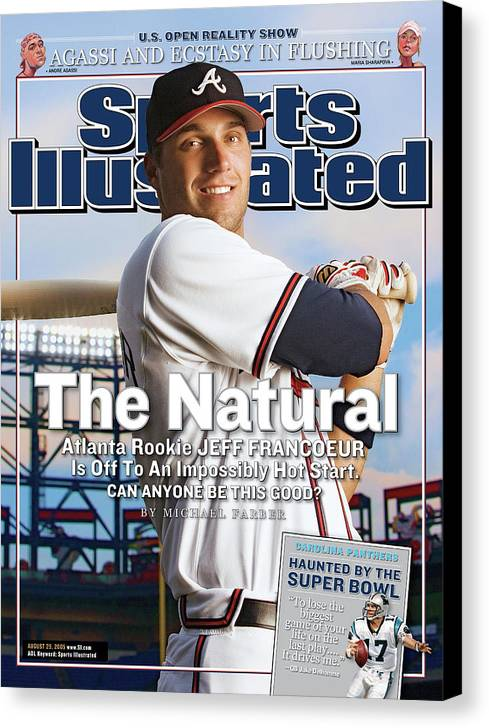 Atlanta Canvas Print featuring the photograph The Natural Atlanta Rookie Jeff Francoeur Is Off To An Sports Illustrated Cover by Sports Illustrated