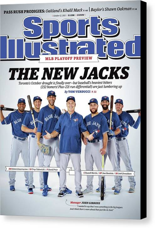 Magazine Cover Canvas Print featuring the photograph The New Jacks 2015 Mlb Playoff Preview Sports Illustrated Cover by Sports Illustrated