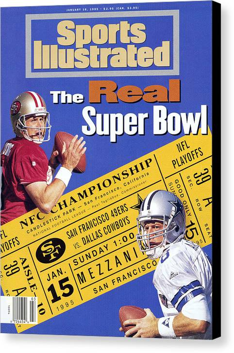 California Canvas Print featuring the photograph The Real Super Bowl, 1995 Nfc Championship Preview Sports Illustrated Cover by Sports Illustrated