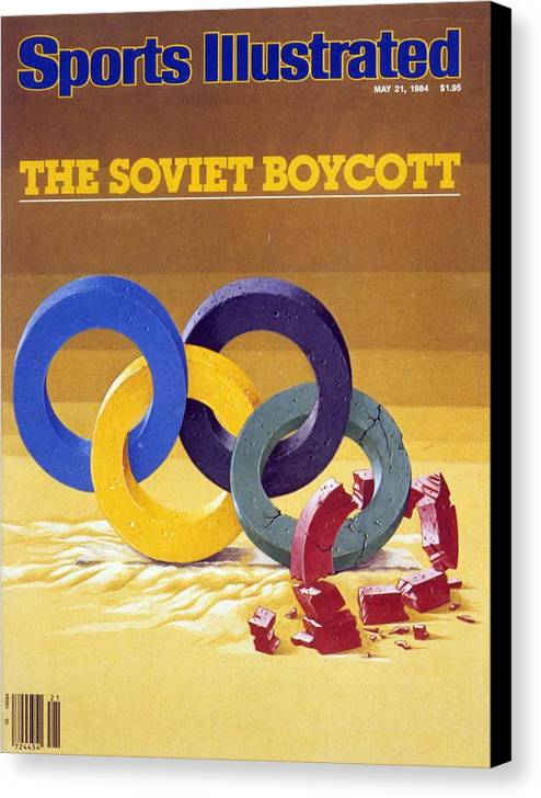Magazine Cover Canvas Print featuring the photograph The Soviet Unions Boycott Of Los Angeles Olympics Sports Illustrated Cover by Sports Illustrated