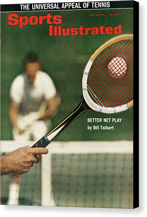 Magazine Cover Canvas Print featuring the photograph The Universal Appeal Of Tennis Better Net Play By Bill Sports Illustrated Cover by Sports Illustrated