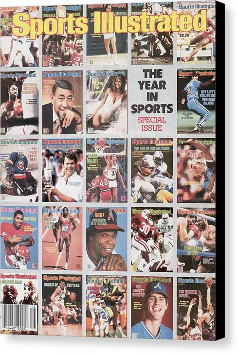 1980-1989 Canvas Print featuring the photograph The Year In Sports Issue... Sports Illustrated Cover by Sports Illustrated