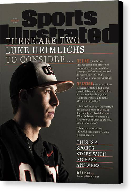 Magazine Cover Canvas Print featuring the photograph There Are Two Luke Heimlichs To Consider... Sports Illustrated Cover by Sports Illustrated