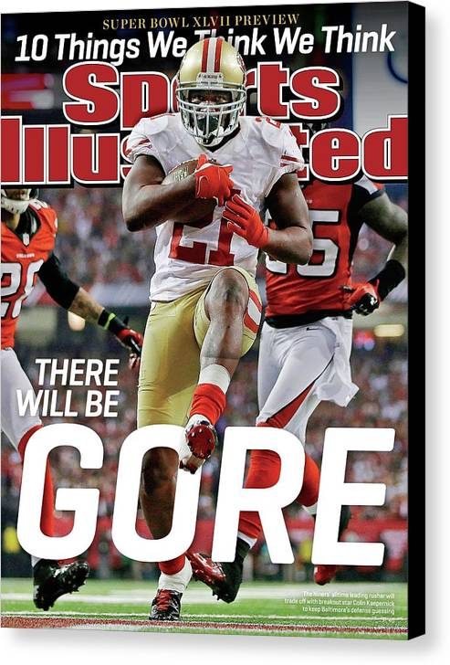 Atlanta Canvas Print featuring the photograph There Will Be Gore Super Bowl Xlvii Preview Issue Sports Illustrated Cover by Sports Illustrated