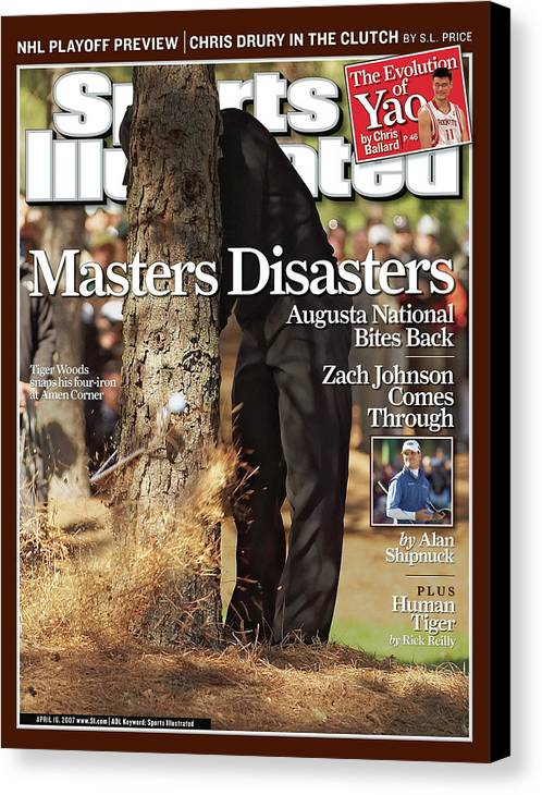 Magazine Cover Canvas Print featuring the photograph Tiger Woods, 2007 Masters Sports Illustrated Cover by Sports Illustrated