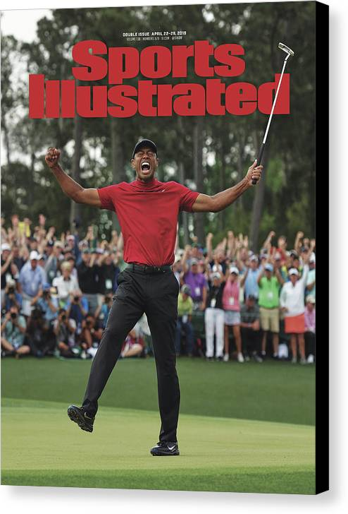 Magazine Cover Canvas Print featuring the photograph Tiger Woods, 2019 Masters Tournament Champion Sports Illustrated Cover by Sports Illustrated