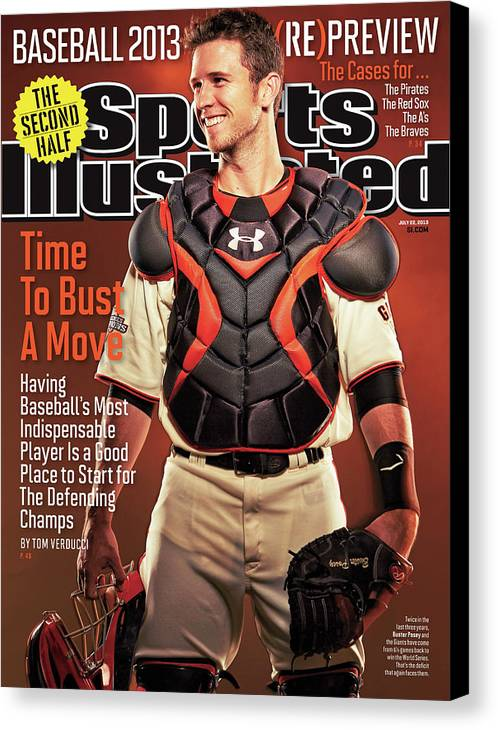 Magazine Cover Canvas Print featuring the photograph Time To Bust A Move Baseball 2013 repreview Sports Illustrated Cover by Sports Illustrated