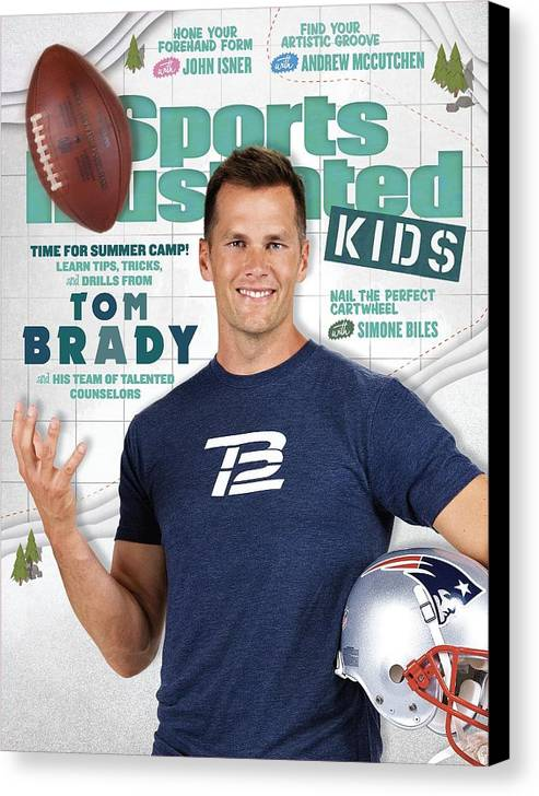 People Canvas Print featuring the photograph Tom Brady Sports Illustrated Cover by Sports Illustrated