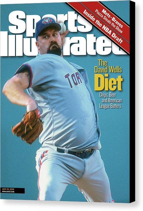 American League Baseball Canvas Print featuring the photograph Toronto Blue Jays David Wells... Sports Illustrated Cover by Sports Illustrated