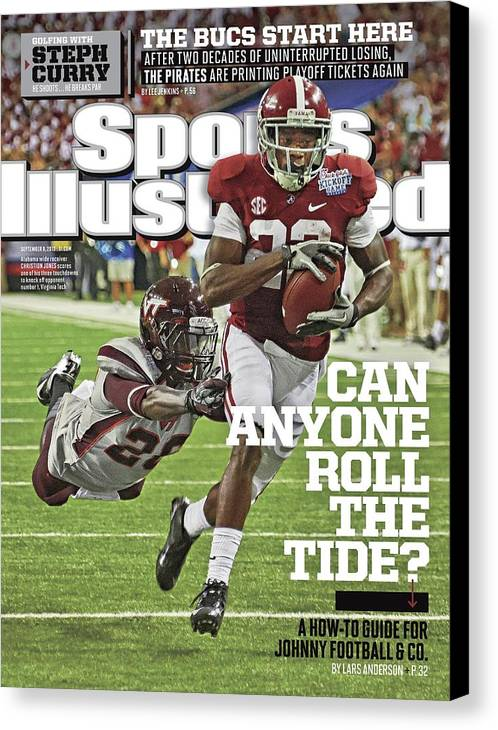 Atlanta Canvas Print featuring the photograph University Of Alabama Vs Virginia Tech, 2013 Chick-fil-a Sports Illustrated Cover by Sports Illustrated