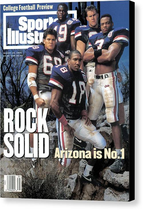 Season Canvas Print featuring the photograph University Of Arizona, 1994 College Football Preview Issue Sports Illustrated Cover by Sports Illustrated