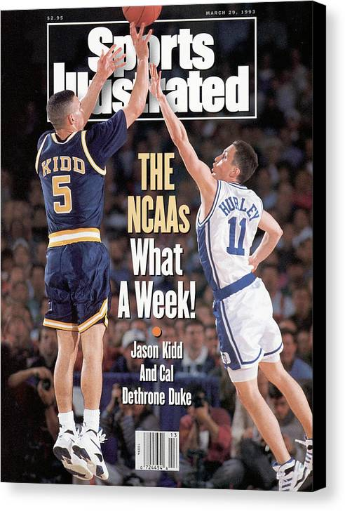 Playoffs Canvas Print featuring the photograph University Of California Jason Kidd, 1993 Ncaa Midwest Sports Illustrated Cover by Sports Illustrated