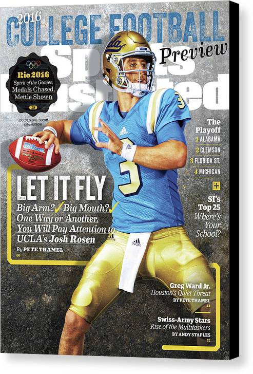 Josh Rosen Canvas Print featuring the photograph University Of California Los Angeles Josh Rosen, 2016 Sports Illustrated Cover by Sports Illustrated