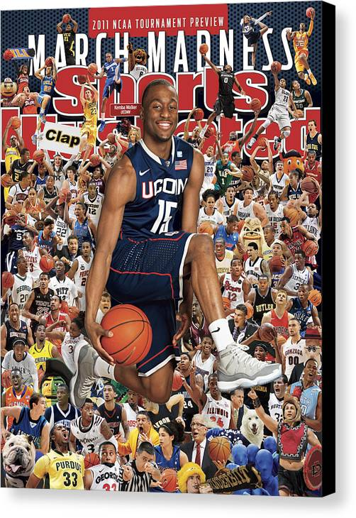 Kemba Walker Canvas Print featuring the photograph University Of Connecticut Kemba Walker, 2011 March Madness Sports Illustrated Cover by Sports Illustrated